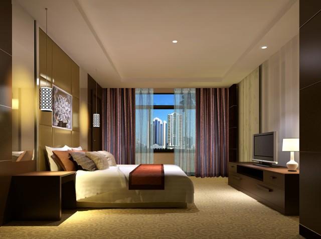 酒店商务套房卧室